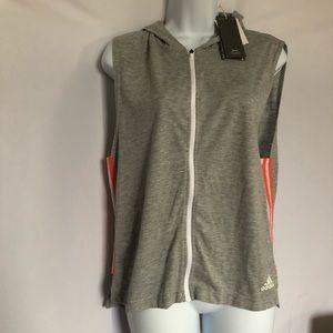 Adidas Zip up hood vest